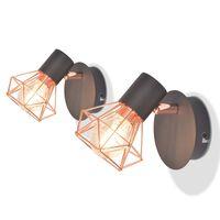 vidaXL Nástenné svietidlá s 2 vláknovými LED žiarovkami, 2 ks, 8 W