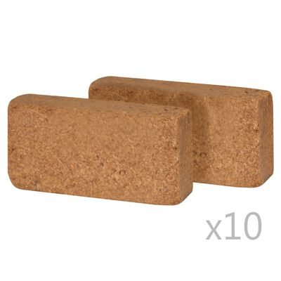 vidaXL Tehly z kokosového vlákna 20 ks 20x10x4 cm 650 g