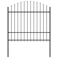 vidaXL Záhradný plot s hrotmi, oceľ (1,5-1,75)x1,7 m, čierny
