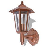 vidaXL Vonkajší nástenný lampáš, nerezová oceľ, meď