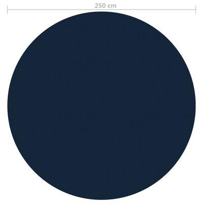 vidaXL Plávajúca solárna bazénová fólia z PE 250 cm čierna a modrá