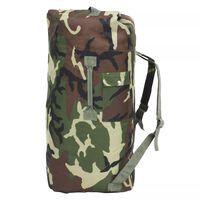 vidaXL Cestovná taška vo vojenskom štýle 85 l maskáčová