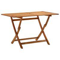 vidaXL Skladací záhradný stôl 120x70x75 cm akáciový masív