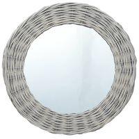vidaXL Zrkadlo 70 cm, prútie