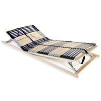 vidaXL Lamelový posteľný rošt so 42 lamelami a 7 zónami 90x200 cm