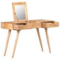vidaXL Toaletný stolík so zrkadlom 112x45x76 cm masívne akáciové drevo