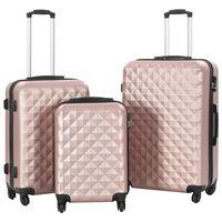 vidaXL Súprava 3 cestovných kufrov s tvrdým krytom ružovo-zlatá ABS