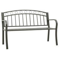 vidaXL Záhradná lavička 125 cm oceľ sivá