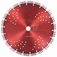 vidaXL Diamantový rezací kotúč s turbom a otvormi oceľový 300 mm