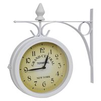 vidaXL Nástenné hodiny, obojstranné, klasický dizajn