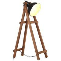 vidaXL Stojanová lampa čierna masívne mangovníkové drevo E27
