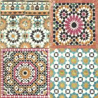DUTCH WALLCOVERINGS Tapeta marocké dlaždice rôznofarebné
