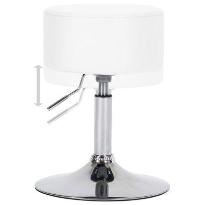 vidaXL Barová stolička biela umelá koža