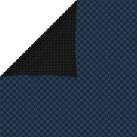 vidaXL Plávajúca PE solárna fólia 975x488 cm čierna a modrá