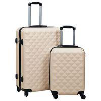 vidaXL Súprava cestovných kufrov s tvrdým krytom 2 ks zlatá ABS
