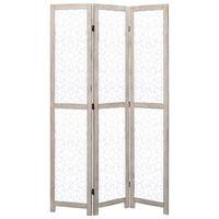 vidaXL 3-panelový paraván biely 105x165 cm masívne drevo