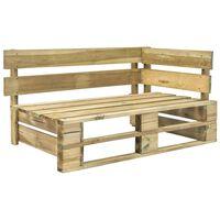 vidaXL Rohová záhradná lavička z paliet, drevo