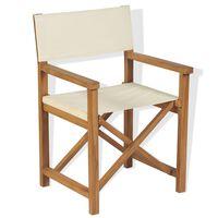 vidaXL Skladacia režisérska stolička, tíkový masív