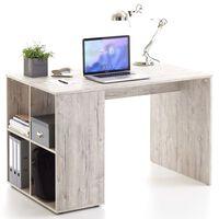 FMD Pracovný stôl s bočnými policami 117x73x75 cm pieskovo-dubový