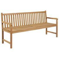 vidaXL Záhradná lavička 175 cm tíkový masív