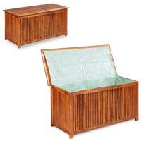 vidaXL Záhradný úložný box 117x50x58 cm, akáciový masív
