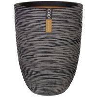 Capi Váza elegantná nízka antracitová 36x47 cm KOFZ782 Nature Rib
