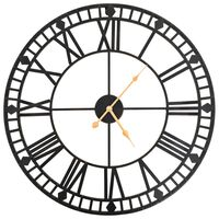 vidaXL Vintage nástenné hodiny s pohonom Quartz kovové 60 cm XXL