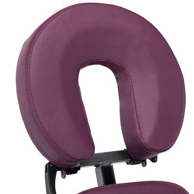 vidaXL Masážna stolička, umelá koža, burgundská červená 122x81x48 cm