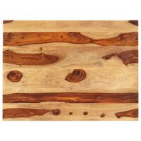 vidaXL Stolová doska, drevený masív sheesham 25-27 mm, 70x80 cm