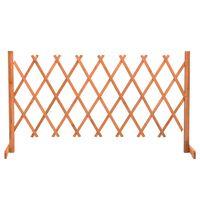 vidaXL Záhradný mriežkový plot oranžový 150x80 cm masívne jedľové drevo