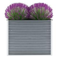 vidaXL Vyvýšený záhradný záhon, pozinkovaná oceľ 100x40x77 cm, sivý