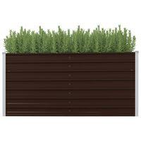 vidaXL Vyvýšený záhradný záhon, hnedý 160x40x77 cm, pozinkovaná oceľ