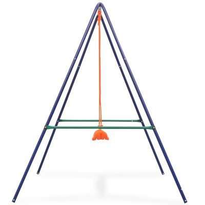 vidaXL Jednomiestna hojdačka a hojdačka pre batoľatá 2 v 1, oranžová