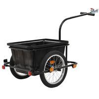 vidaXL Príves na bicykel, čierny 50 l