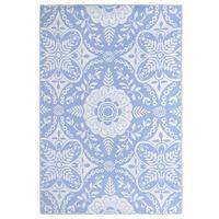 vidaXL Vonkajší koberec detský modrý 190x290 cm PP