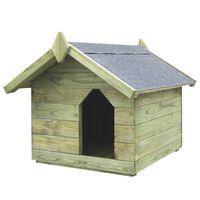 vidaXL Psia búda s otváracou strechou, impregnovaná borovica