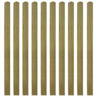 vidaXL Impregnované plotové dosky 10 ks, drevo 140 cm