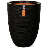 Capi Váza elegantná nízka čierna 36x47 cm KBLR782 Nature Rib