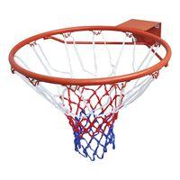 vidaXL Basketbalový kôš, obruč so sieťou, oranžová 45 cm