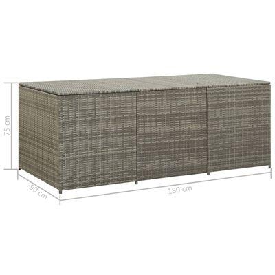 vidaXL Záhradný úložný box sivý 180x90x75 cm polyratanový