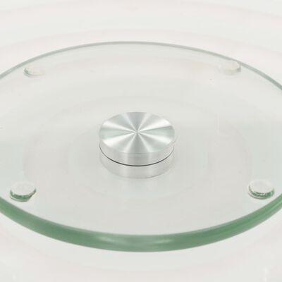 vidaXL Otočné servírovacie dosky 2ks priehľadné 30 cm tvrdené sklo
