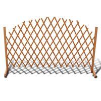 vidaXL Mriežkový plot, drevený masív 180x100 cm