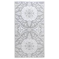 vidaXL Vonkajší koberec bledosivý 80x150 cm PP