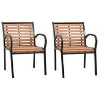 vidaXL Záhradné stoličky 2 ks drevené