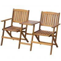 vidaXL Skladacia záhradná lavička so stolíkom 140 cm, akáciový masív