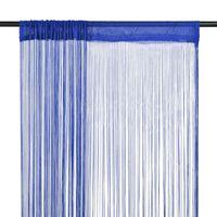 vidaXL Šnúrkový záves, 2 ks, 100x250 cm, modrý