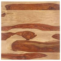 vidaXL Stolová doska, drevený masív sheesham 25-27 mm, 60x60 cm