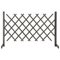 vidaXL Záhradný mriežkový plot sivý 120x90 cm masívne jedľové drevo