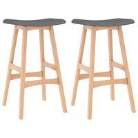 vidaXL Barové stoličky 2 ks bledosivé látkové