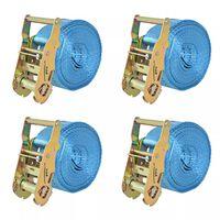 vidaXL Upínacie popruhy s račňou 4 ks, 2 tony, 6mx38mm, modré